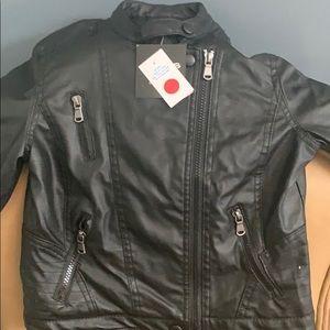 Girls size 10/12 Biker jacket with hood.